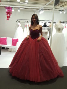 Robe Princesse Bordeaux
