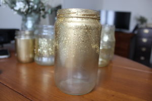 Pot bombé paillettes or DIY